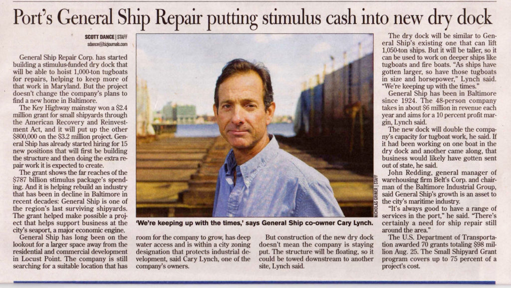 Stimulus Cash for new Dry Dock
